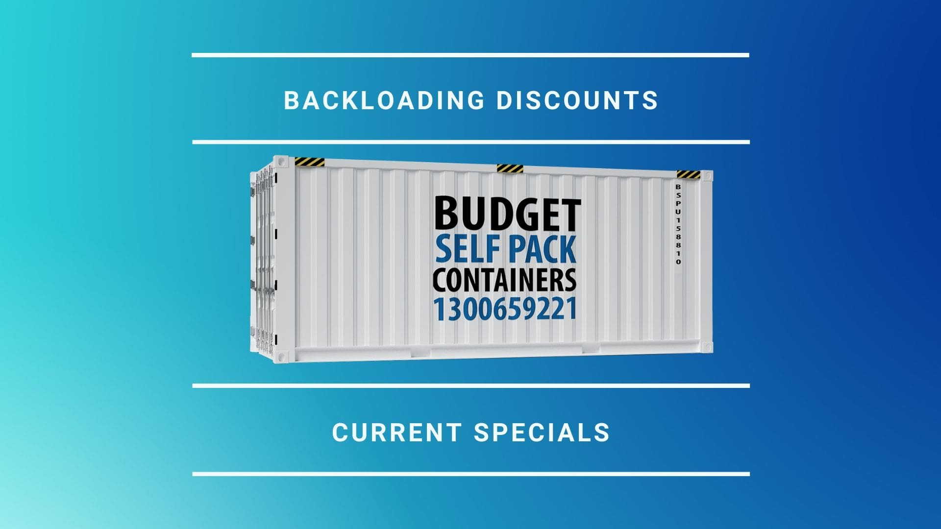 Backloading Discounts and Specials | BSPC Removalists