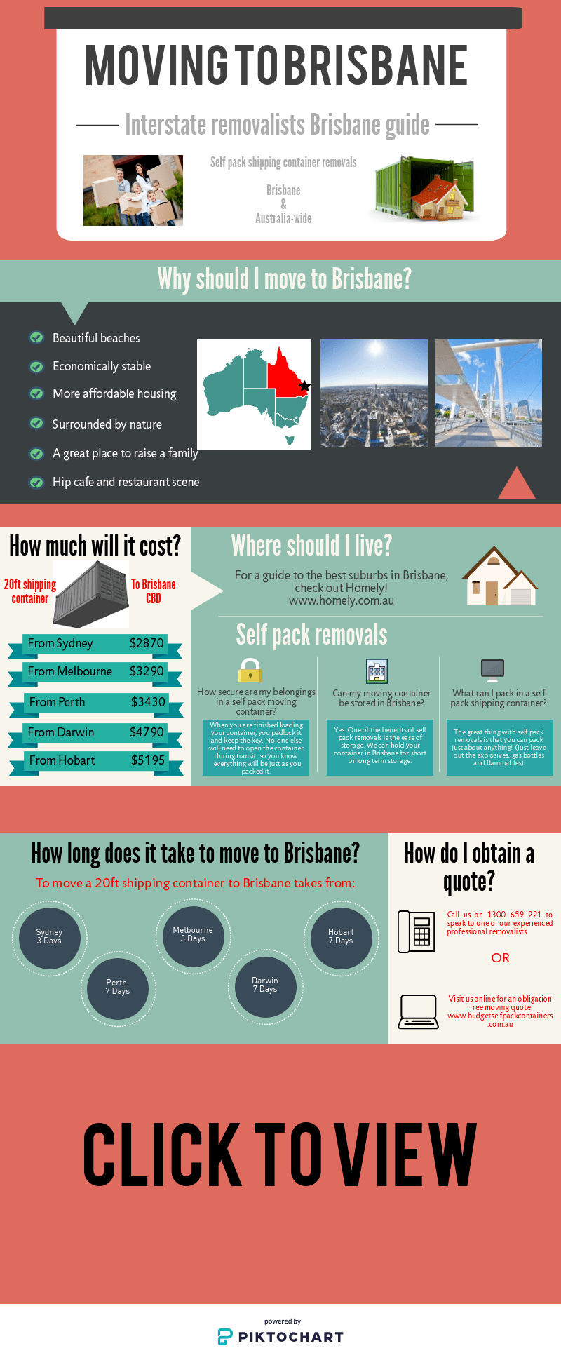 Moving to Brisbane Infographic