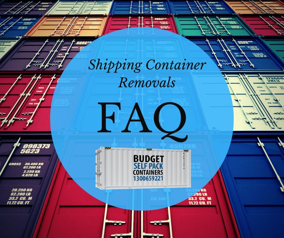 Moving Container FAQ | Budget Self Pack Containers