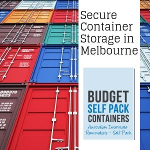 Melbourne Container Storage | Budget Self Pack Containers