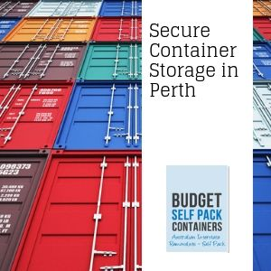 Secure container storage in Perth | Budget Self Pack Containers