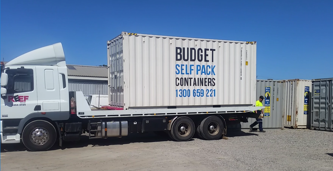 20ft Shipping Container Removals | Budget Self Pack Containers