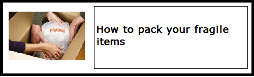 How to pack your fragile items | Budget Self Pack Containers