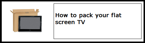 How to pack your TV | Budget Self Pack Containers