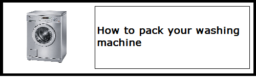 How to pack your washing machine | BSPC Removalists