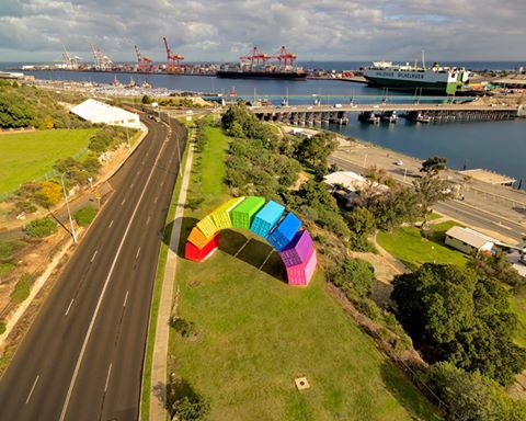 Shipping container rainbow - BSPC Removalists