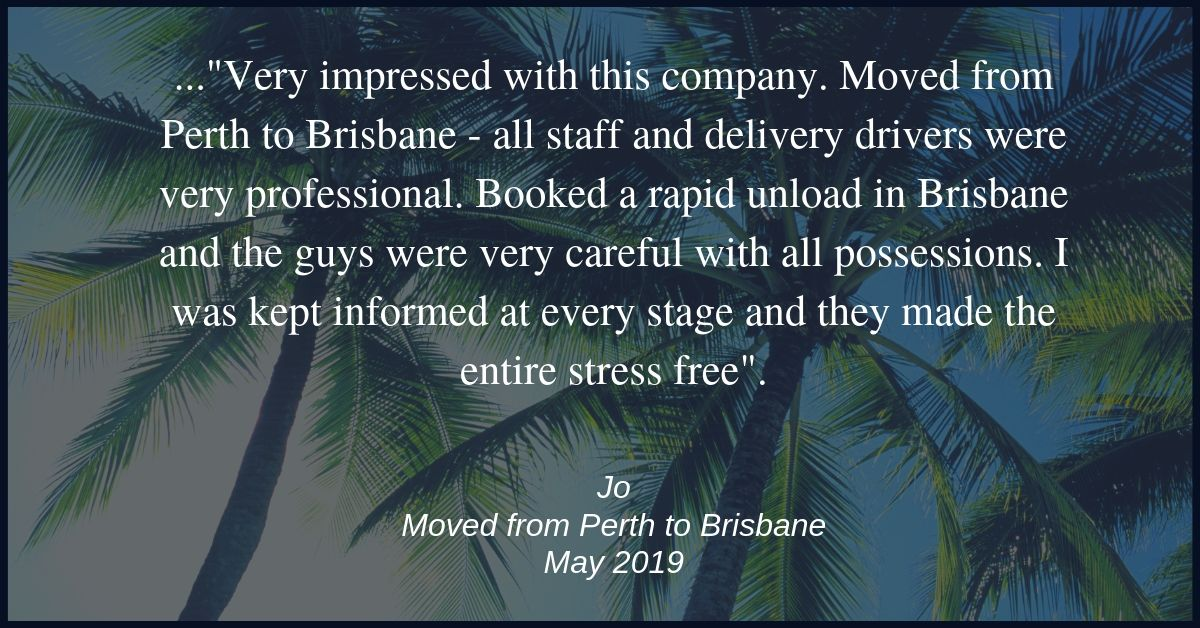 Moving review Perth to Brisbane | Budget Self Pack Containers