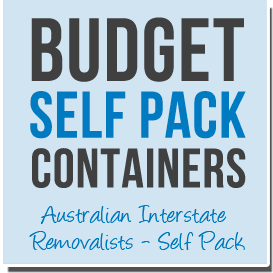 Budget Self Pack Moving Containers - Australian Interstate Removalists