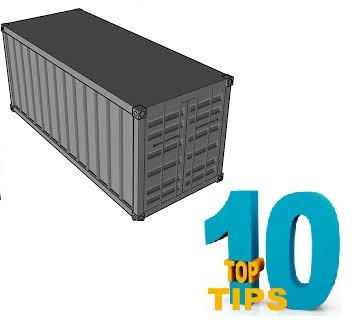 Ten tips from the experts on how to pack your own moving container