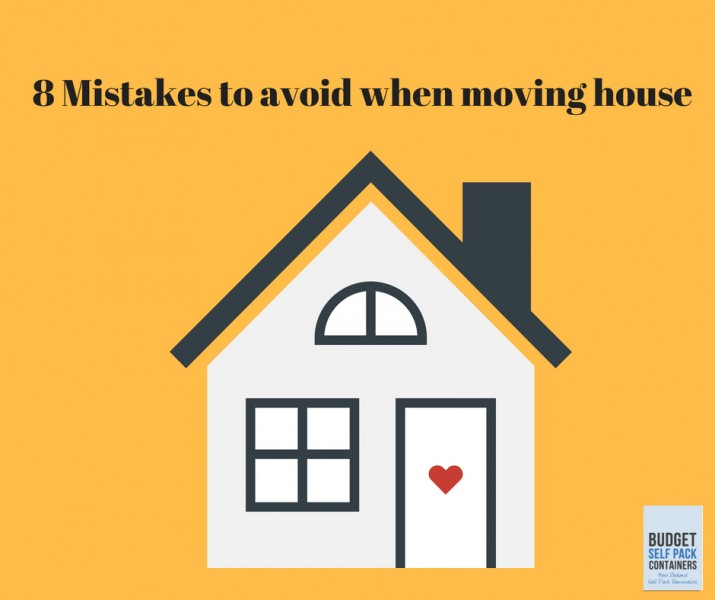 8 Mistakes to avoid when moving house