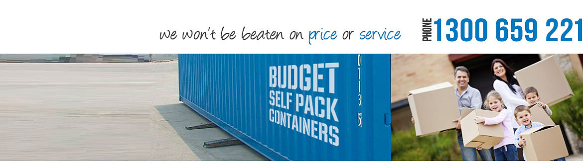 Budget Self Pack Containers will help with your container removals in Perth, Melbourne, Sydney & Brisbane 1300 659 221