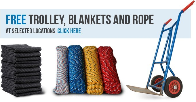 Free Trolley, Blankets & Rope - Budget Self Pack Containers
