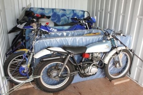 Moving motorcycles in a shipping container - Budget Self Pack Containers