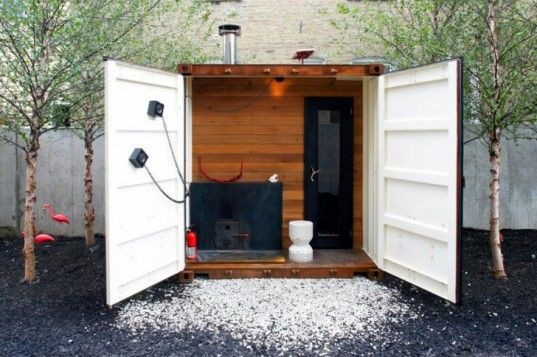 Shipping Container Sauna - BSPC Removalists