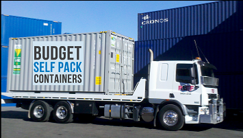 8 tonne weight allowance with Budget Self Pack Containers
