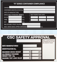 CSC Inspection Plate - BSPC Removalists