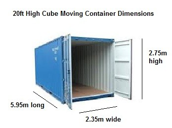 how much can i fit in a shipping container bspc removalists. Black Bedroom Furniture Sets. Home Design Ideas