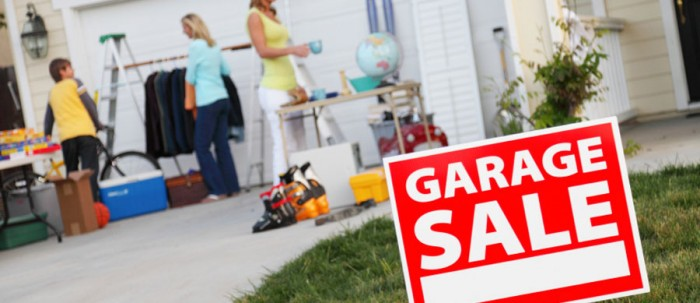 Declutter with a garage sale - BSPC Removalists