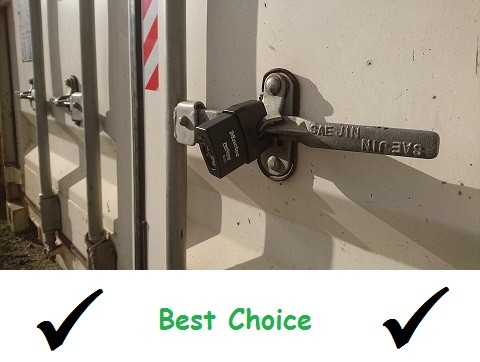 Best padlock to lock moving container - BSPC Removalists